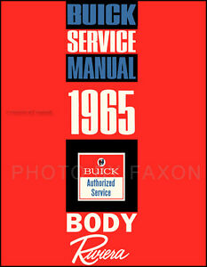 1965 Buick Riviera Body Manual 65 Repair Shop Service Book