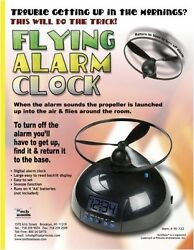 Tech Tools Flying Alarm Clock New