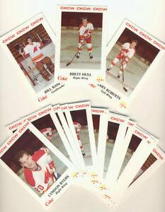 """1986-87 MONCTON GOLDEN FLAMES .... UNCUT SHEET .... 15"""" x 17.5"""""""