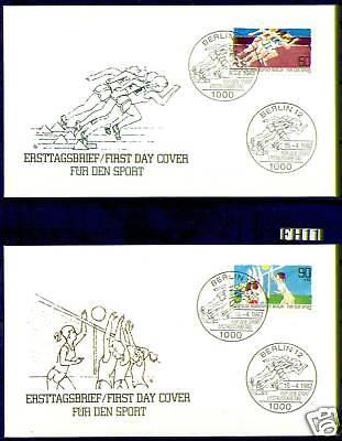 Berlin 1982: Sporthilfe! FDC der Nr. 664+665! Rabatt!