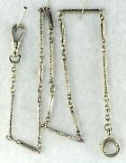 White Gold Pocket Watch Chain