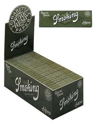 50pk Pure Hemp Single Wide Rolling Papers Display