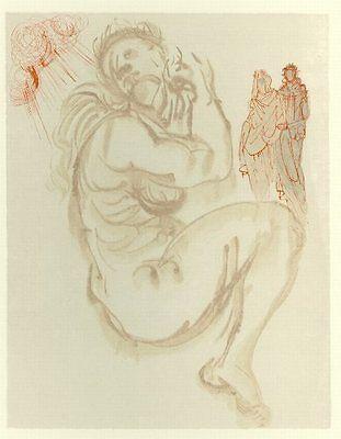 Salvador Dali - The Divine Comedy - Purgatory Canto 19: Dante's Dream