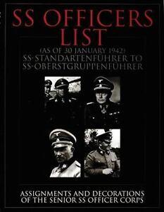SS Officers List SS-Standartenfuehrer to SS-Oberstgruppenfuehrer Reference Book