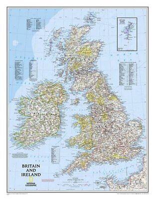 Britain and Ireland Classic, laminated Wall Maps-9780792250234- NG-117