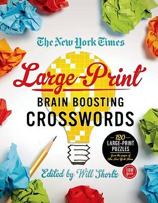 The New York Times Large Print Brain Boosting Crosswords  120 Large Print Puzzle