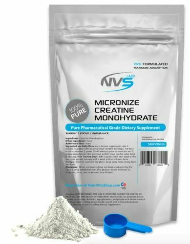Ultra Micronized Creatine Monohydrate Powder Pharmaceutical Kosher - All Sizes