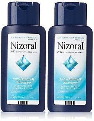 2 Pack Nizoral A-D Anti-Dandruff Ketoconazole 1% Shampoo - 7