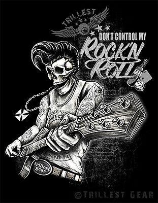 Rock N Roll T-Shirt Herren S M L XL XXL Vintage Rockabilly Skull Hot Rod Biker G - Hot Herren T-shirts