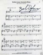 Bob Dylan Signed