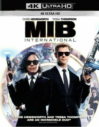 MIB Men in Black International 4K UHD ONLY with Slip Cover-