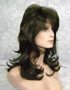 Medium Black Layered Wig