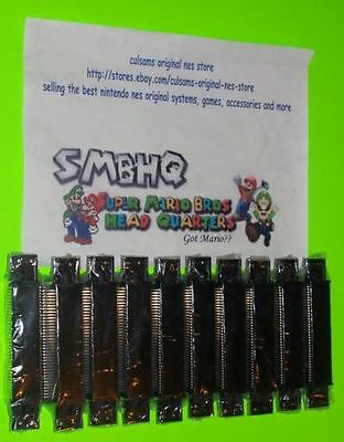 10 NEW Wholesale Lot 72 Pin Connector for Nintendo NES System Console