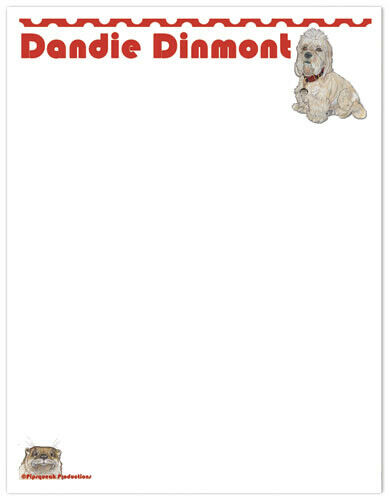 Dandie Dinmont Large Stationery Set