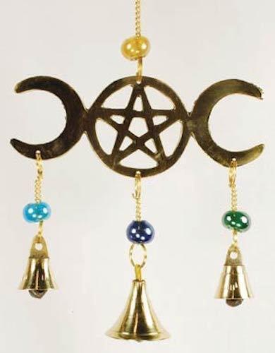 Triple Moon Goddess & Pentagram Wind Chime!