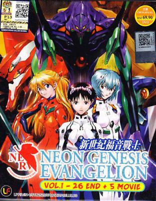 Neon Genesis Evangelion DVD : eps 1 to 26 end + 5 Movie Box Set