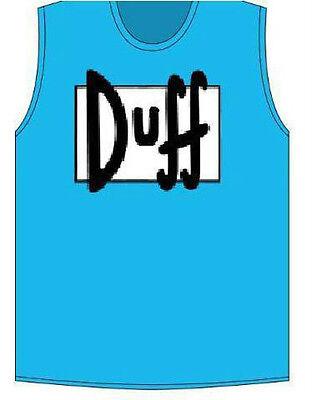 Mens TV Show The Simpsons Duff Man Costume T-Shirt Tee