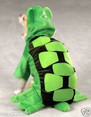 New Zack & Zoey TURTLE Dog Puppy pet Halloween Costume XS Green](Turtle Pet Costume)