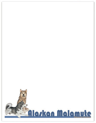 Alaskan Malamute Large Stationery Set
