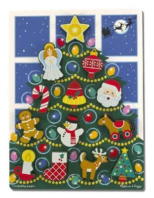 Melissa & Doug Holiday Christmas Tree Wooden Chunky Puzzle  Fast Free Shipping