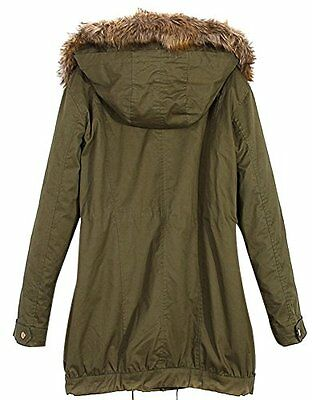 New Womens Winter Warm Hooded Jacket Thicken Fleece Parka Coat ...