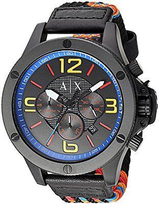 Armani Exchange Men's AX1526 'Street' Chronograph Colorful Nylon Watch