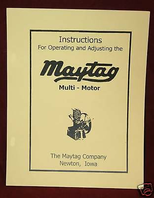 Maytag Upright Motor Engine Service Manual Hit Miss