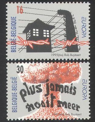 BELGIUM 1995 PEACE/FREEDOM//BARBED WIRE/WWII/REMEMBRANCE 2V SET N39071