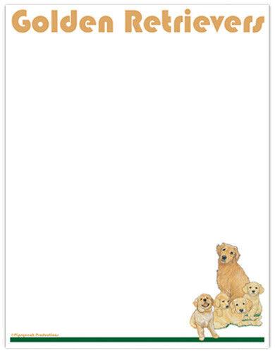 Golden Retriever Large Stationery Set