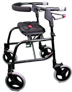 NEXUS 3  walker, foldable, for taller person, with yellow brakes