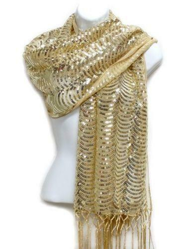 Metallic Gold Scarf: Scarves & Wraps | eBay