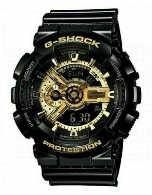 GENUINE NEW CASIO G-SHOCK MENS BLACK GOLD SPORTS WATCH - GA-110GB-1AER