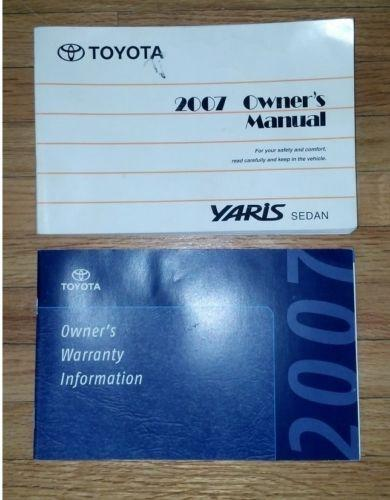 Toyota yaris owners manuals ebay publicscrutiny Image collections
