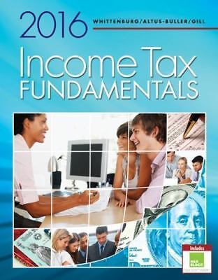 2016 Income Tax Fundamentals Instructors Edition By Whittenburg     81618