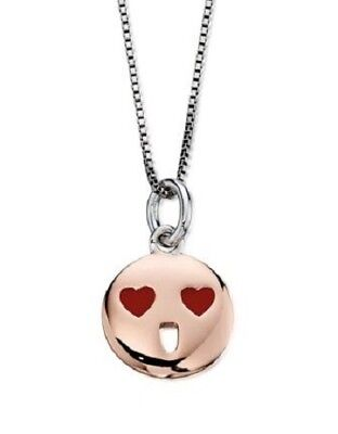 D for Diamond Necklace Red Heart Eyes Face Pendant with Chain D4D P4423](Red Heart With Eyes)