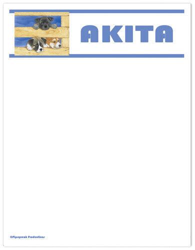 Akita Large Stationery Set