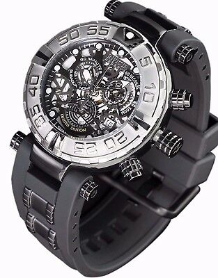 New Mens Invicta Subaqua Swiss Made Chronograph Skeleton Infernal Dial Watch
