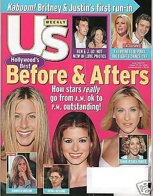 Jennifer Aniston Debra Messing Hot Hot Us  Magazine August 2002
