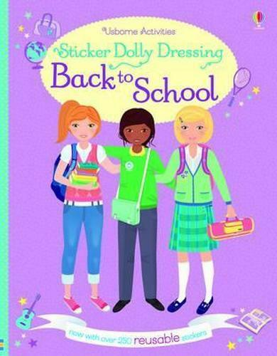 NEW Sticker Dolly Dressing Back to School By Fiona Watt Paperback Free Shipping