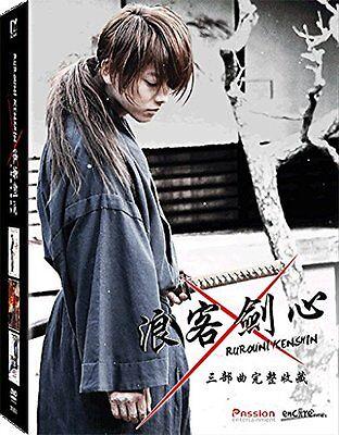 Rurouni Kenshin Trilogy Japan Live Action Movie Region A Blu-Ray Boxset(Eng Sub)