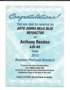 Anthony Rendon Auto