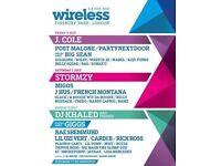 2x Wireless Festival Tickets Saturday 7th July 2018 at Finsbury park