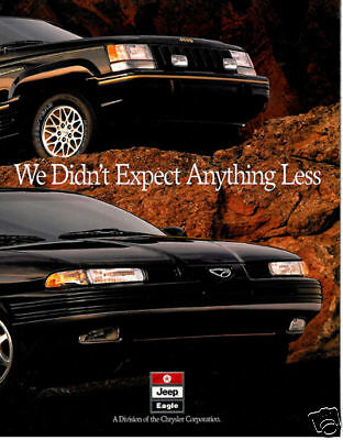 1993 JEEP GRAND CHEROKEE EAGLE VISION BROCHURE BOOK (Jeep Eagle Vision)