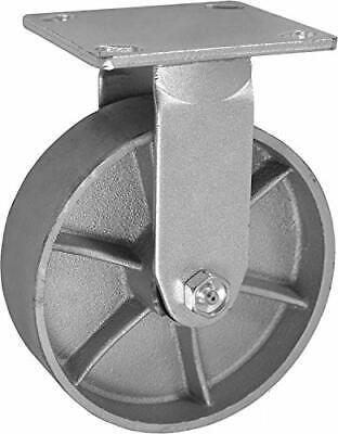 Casterhq 6 X 2 Inch Rigidfixed Caster - Semi-steel Cast Iron Wheel - 1200 Lbs