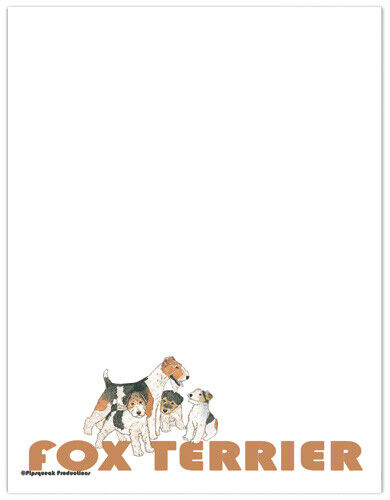 Fox Terrier Wire Large Stationery Set