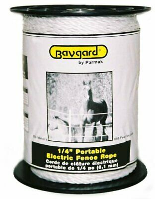 Baygard Electric Fence 14-inch White Rope 656 Feet Model 795
