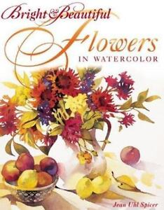 Bright-and-Beautiful-Flowers-in-Watercolor-Jean-Spicer-art-painting-book