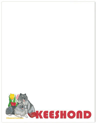 Keeshond Large Stationery Set