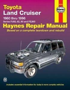 New Haynes Repair Manual Toyota Land Cruiser 1980-1996
