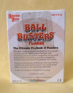 "NEW!  Sealed...""BALL BUSTERS"" Football Trivia Brainteasers London Ontario image 2"